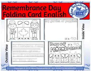 Remembrance Day Activity Folding Card