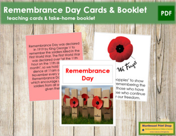 Remembrance Day Cards, Booklet, and Poem