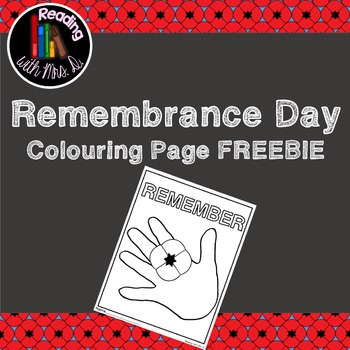 Remembrance Day FREEBIE