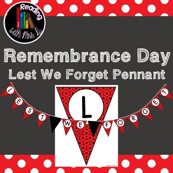 Remembrance Day Lest We Forget Pennant