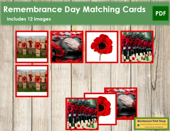 Remembrance Day Photo Matching Cards