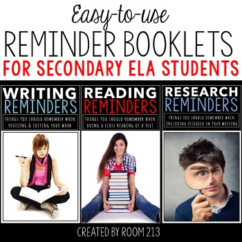 Reminder Booklets for Reading, Writing and Research