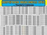 Reminder Bracelets Unit from Teacher's Clubhouse