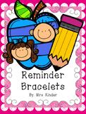 Reminder Note Bracelets