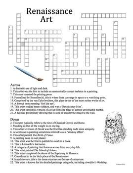 Renaissance Art History Crossword Puzzle