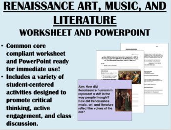 Renaissance Art, Music, and Literature Bundle - Global/Wor