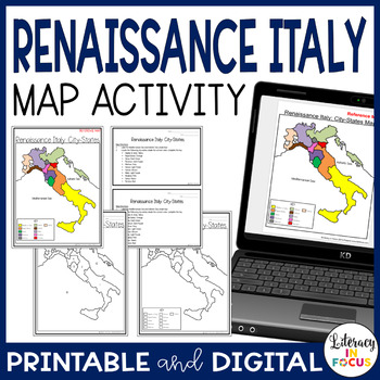 Renaissance Italy: City States Map Lesson and Assessment