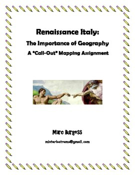 """Renaissance Italy: The Importance of Geography - A """"Call-O"""