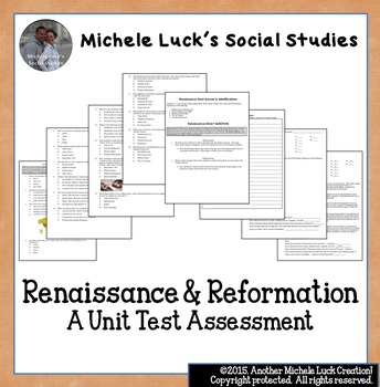 essay on the renaissance and reformation History is fluid and dynamic, shifting continuously from structure to structure between the years 1400 and 1800, there were many changes in the world: the.