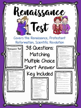 Renaissance Test, matching, multiple-choice, Protestant Re