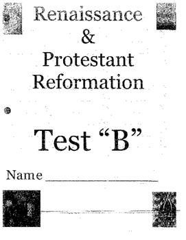 Renaissance and Protestant Reformation Test