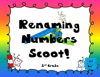 Renaming Numbers Scoot! 1st grade