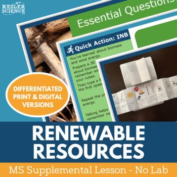 Renewable Energy Resources - Supplemental Lesson - No Lab