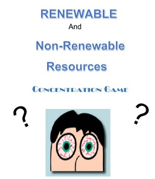 Renewable and Non-Renewable Resources Concentration Game