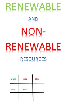 Renewable and Non-Renewable Resources Tic Tac Know