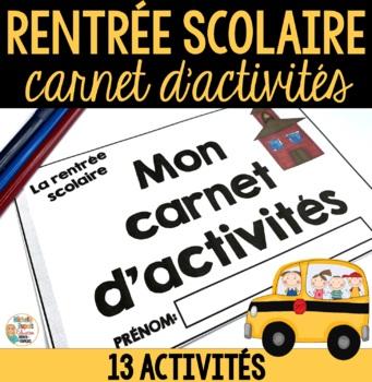 Rentrée Scolaire (Carnet d'activités)   -   French Back to