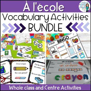 Rentrée Scolaire:  Back to School Themed Vocabulary BUNDLE