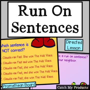 Run On Sentences for Promethean Board
