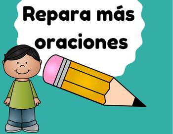 Repara las oraciones 2 (Fix sentence errors in Spanish)