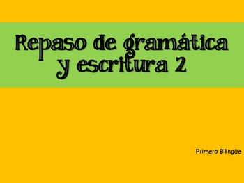 Repaso de gramática diaria 2