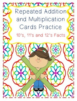 Repeated Addition and Multiplication Practice Cards 10's,