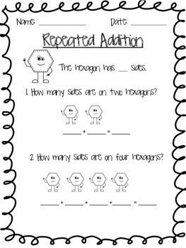 Repeated Addition with Sides of Shapes