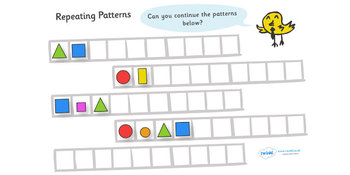 Repeating Patterns Shapes and Colours