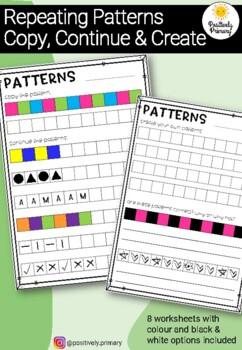 Repeating Patterns Worksheet - Kindergarten, Prep and Reception
