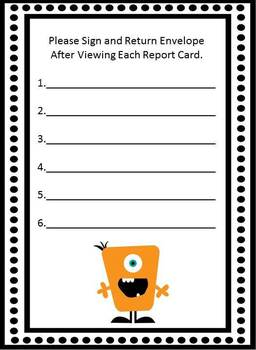 Report Card Return Sheet