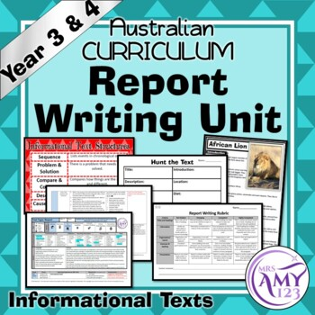 Report Writing Unit (Informational Texts) -Year 3 and 4- A