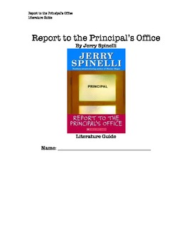 Report to the Principal's Office Literature Guide