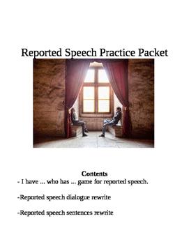 Reported Speech Activities Bundle