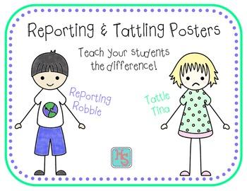 Reporting & Tattling Posters