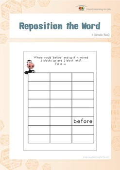 Reposition the Word (2nd Grade)