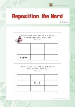 Reposition the Word (Kindergarten)