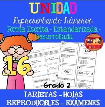 Unidad Representando Números (Escrito/Desarrollado/Estanda