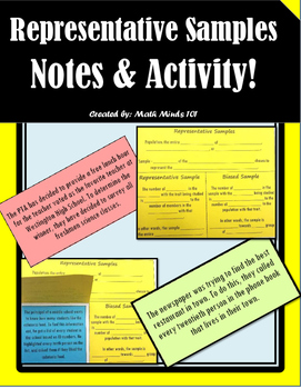 Representative Samples - Notes and Activity!