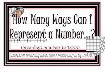 SMARTboard: Representing 3-Digit Numbers in Various Forms;