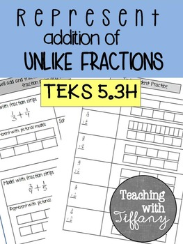 Representing Addition of Unlike Fractions with Pictorial M