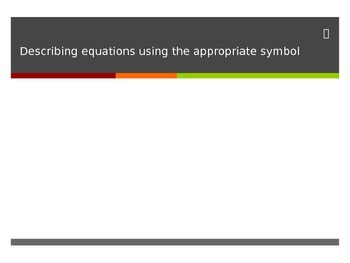 Representing Equations with a Relational Symbol Interactiv