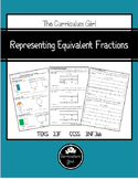 Representing Equivalent Fractions (3.3F, 4.NF.1)