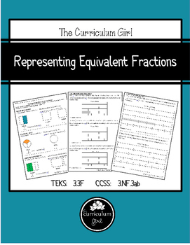 Representing Equivalent Fractions (3.3F, 3.NF.3ab)