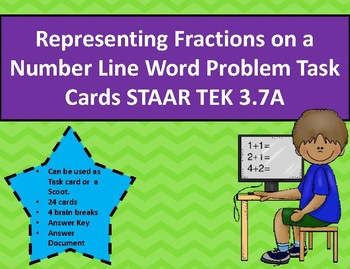 Representing Fractions on a Number Line Word Problem Task