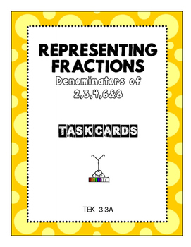 Representing Fractions with Denominators 2,3,4,6,&8 - Task