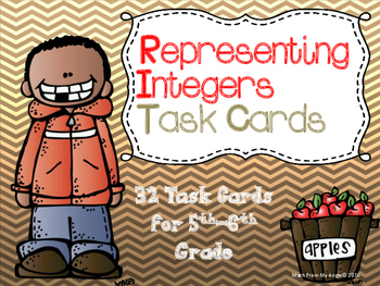 Representing Integers:  32 Task Cards for 5th-6th Grade