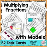 Multiply Fractions Task Cards {Represent w Models} 4NF4 5NF4 5NF6