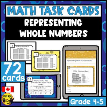 Representing Number Task Cards Grades 4-5