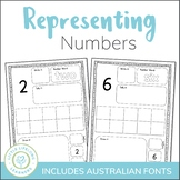 Representing Numbers 1 to 20 -  Activity Sheets - QLD FONT