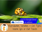 Reproduction, and Variation Warm Up or Exit Ticket Digital