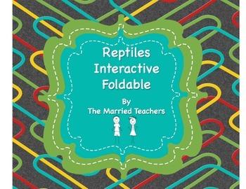 Vertebrates: Reptiles Science Interactive Foldable